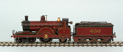 "Gamages 4-2-2 ""Johnson Spinner"" No650 C/W"
