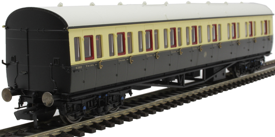 GWR Collett 57 Bow Ended E131 Nine Compartment Composite