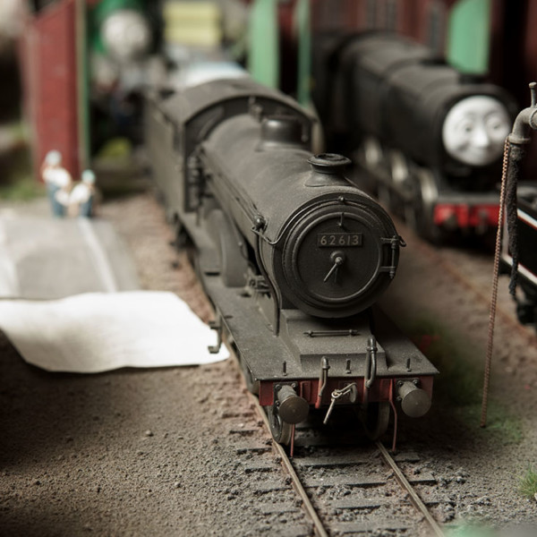 Leeds O Gauge 4-4-0 Loco and Tender LMS black No.624, 2-rail Electric 1940~50年代
